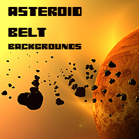 Asteroid belt backgrounds 3D Models 2D 1971s