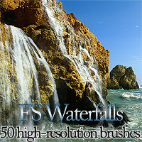 FS Waterfalls 3D Models 2D Graphics FrozenStar