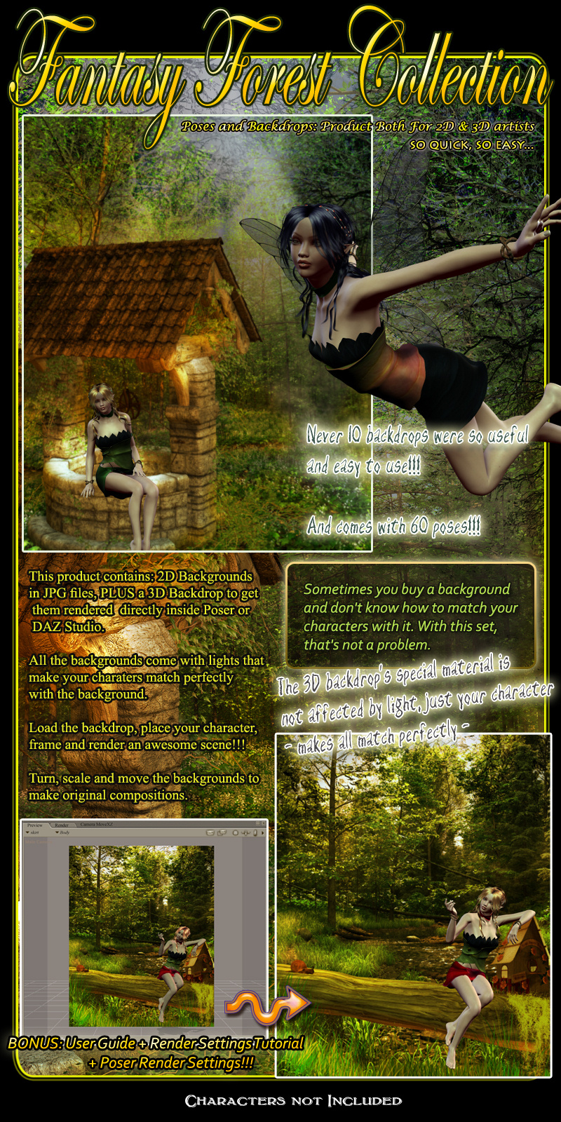 Fantasy Forest Collection- Poses And Backdrops