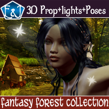Fantasy Forest Collection- Poses And Backdrops 2D Graphics 3D Figure Assets EmmaAndJordi
