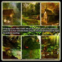 Fantasy Forest Collection- Poses And Backdrops image 2