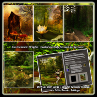Fantasy Forest Collection- Poses And Backdrops image 3