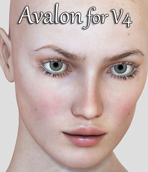 Avalon Character for V4 3D Figure Assets RPublishing
