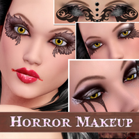Horror Makeup 2D 3D Models Atenais