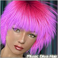 Music Diva Hair 3D Figure Assets Mairy