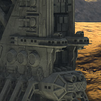 Allied Fleets Outpost- Poser OBJ 3DS MAX image 3