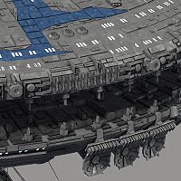 Allied Fleets Outpost- Poser OBJ 3DS MAX image 4