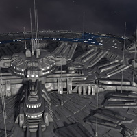 Allied Fleets Outpost- Poser OBJ 3DS MAX image 7