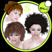 Biscuits Hair Trio NO2 3D Models 3D Figure Essentials Biscuits