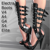Boots - Electra for V4 A4 G4 S4 Elite 3D Figure Essentials Arrin