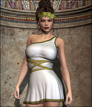 Helena Dress V4, A4, G4 3D Figure Assets RPublishing