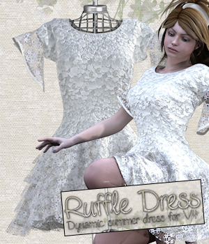 RuffleDress for V4 3D Figure Essentials Tipol