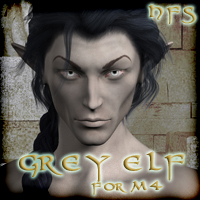 HFS Elven Races- Grey Elf for M4 3D Figure Essentials 3D Models DarioFish