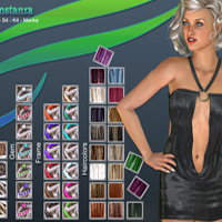 Contstanza Hair for V4 image 8