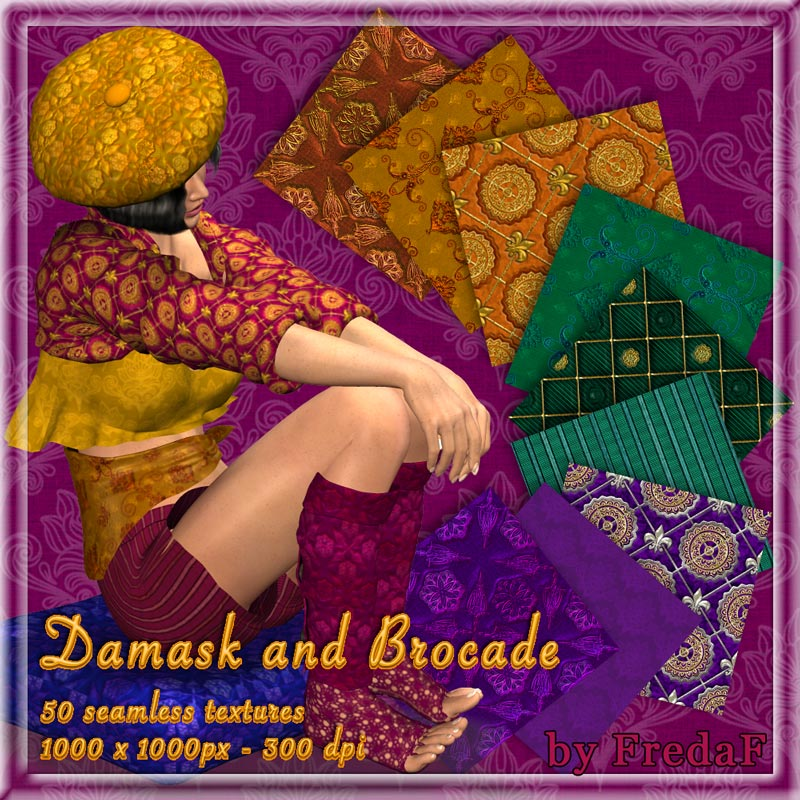 Damask and Brocade Texture resource
