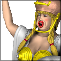 Story Book Character - Valkyrie 3D Models PhilC