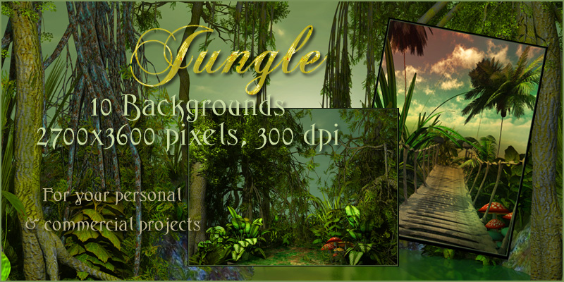Backyard Jungle Requirements : Jungle Backgrounds 2D 3D Models Melkor