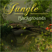 Jungle Backgrounds 3D Models 2D -Melkor-