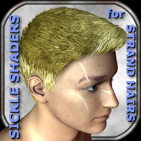 Sickle Shaders for Strand Hairs Hair SickleYield