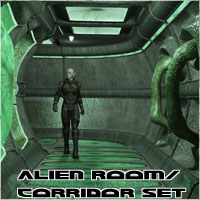 Alien Room-Corridor Construction Set by 3-D-C 3D Models 3-d-c