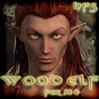 HFS Elven Races- Wood Elf for M4 3D Figure Essentials 3D Models DarioFish