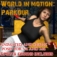 World in motion- Parkour Poses/Expressions Props/Scenes/Architecture santuziy78