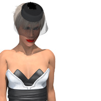 Tulip Dress for Alyson 3D Figure Assets PhilC