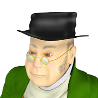 Story Book Character - Mr Pickwick 3D Models PhilC