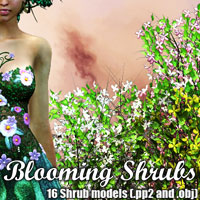 Blooming Shrubs 3D Models designfera