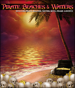 Pirate Beaches and Waters  2D Graphics Sveva