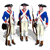 1776 US Soldier 3D Models PhilC