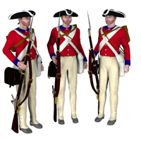 1776 British Soldier Stand Alone Figures Themed PhilC