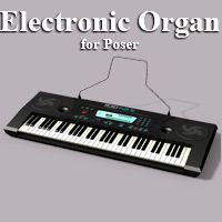 Electronic Organ  Themed Props/Scenes/Architecture Simon-3D