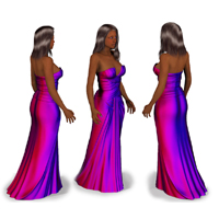 Andy Awards Dress 3D Figure Assets PhilC