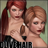 Olive Hair - 2 in 1 3D Figure Assets outoftouch