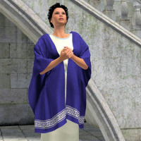 Rachel Dynamic Tunic and Shawl for V4 3D Figure Assets Khory_D