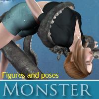 Monster 3D Figure Essentials 3D Models halcyone