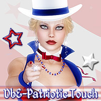 DbE-Patriotic Touch 3D Models 2D 3D Figure Essentials DesignsbyEve