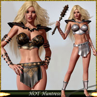 HOT Huntress 3D Models 3D Figure Assets lululee