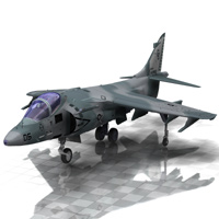 Harrier AV-8 (for Poser) Transportation Themed Digimation_ModelBank