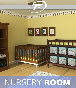 Nursery Room 3D Models TruForm