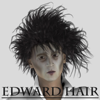 SM_Edward Hair 3D Figure Assets MayaX