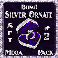 Bling! SILVER ORNATE Layer Styles: Set #2 {Mega Pack} 2D 3D Models fractalartist01