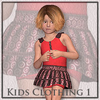 Kids Clothing 1 3D Figure Assets anny