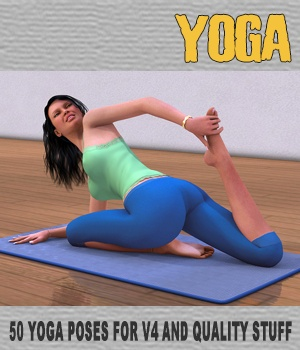Yoga - 50 HQ poses and stuff for V4 3D Figure Assets hameleon