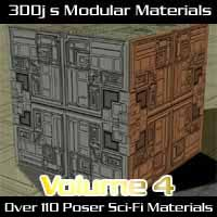 3DDjs Modular Materials Volume 4 Sci-Fi-Tiles 3D Figure Essentials Django