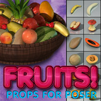Exnem's Fruits 3D Models exnem