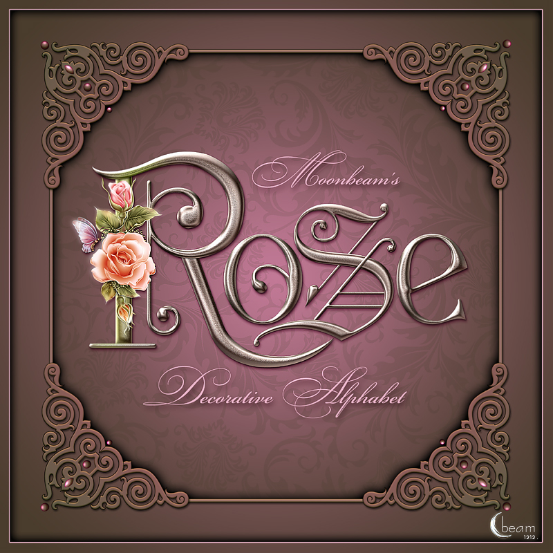 Moonbeam's Rose Decorative Alphabet
