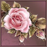 Moonbeam's Rose Decorative Alphabet 2D Graphics 3D Models moonbeam1212