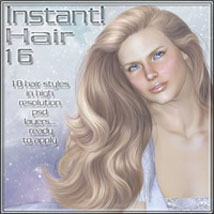 Instant Hair 16 2D Graphics 3D Models ilona